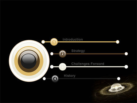 Fractal Planet PowerPoint Template, Slide 3, 07081, Technology and Science — PoweredTemplate.com