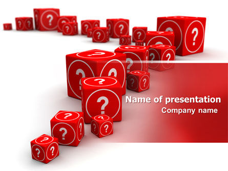 Consulting: Questions PowerPoint Template #07082