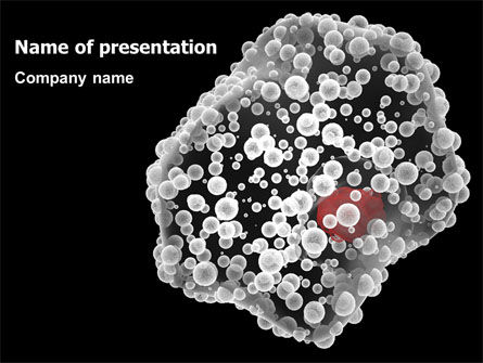 Medical: White Blood Cell PowerPoint Template #07083