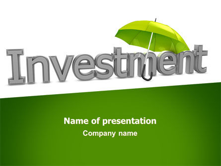 Investment PowerPoint Template, 07084, Careers/Industry — PoweredTemplate.com