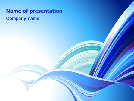 Abstract/Textures: Blue Waves Abstract PowerPoint Template #07085