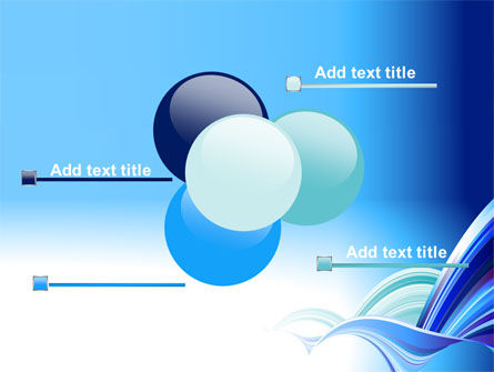 Blue Waves Abstract PowerPoint Template Slide 10