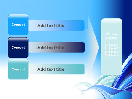 Blue Waves Abstract PowerPoint Template Slide 12