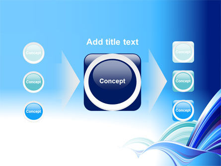 Blue Waves Abstract PowerPoint Template Slide 17