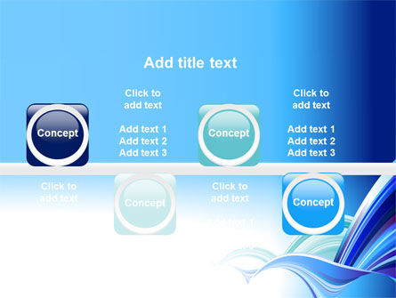 Blue Waves Abstract PowerPoint Template Slide 19
