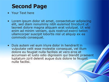 Blue Waves Abstract PowerPoint Template Slide 2