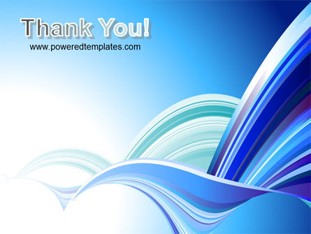 Blue Waves Abstract PowerPoint Template Slide 20