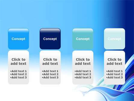 Blue Waves Abstract PowerPoint Template Slide 5