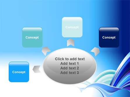 Blue Waves Abstract PowerPoint Template Slide 7