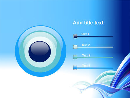 Blue Waves Abstract PowerPoint Template Slide 9