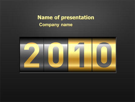 Holiday/Special Occasion: 2010 Counter PowerPoint Template #07088