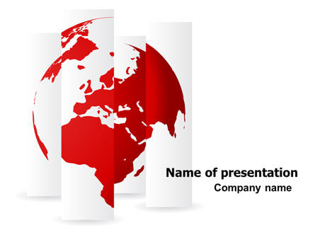 Fragmented World Map PowerPoint Template