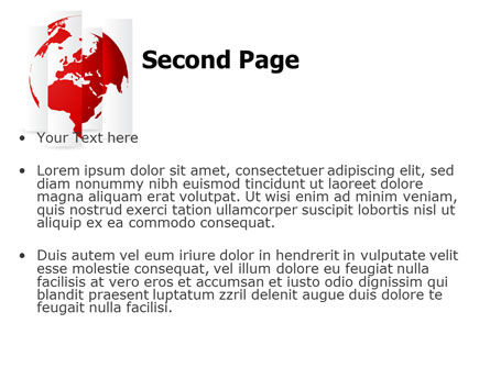 Fragmented World Map PowerPoint Template Slide 2