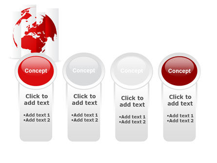 Fragmented World Map PowerPoint Template Slide 5