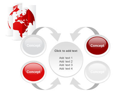 Fragmented World Map PowerPoint Template Slide 6