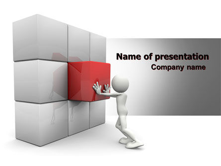 Consulting: Fitting the Part PowerPoint Template #07093