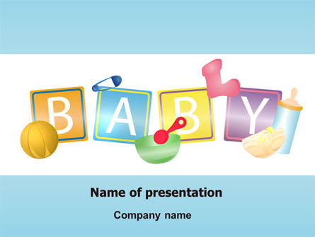 Baby Theme PowerPoint Template, 07094, Education & Training — PoweredTemplate.com