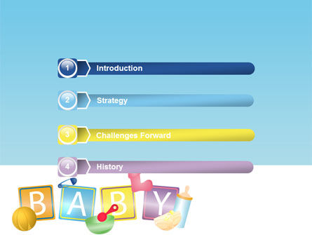 Baby Theme PowerPoint Template, Slide 3, 07094, Education & Training — PoweredTemplate.com