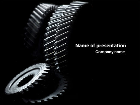 Black Gears PowerPoint Template, 07095, Utilities/Industrial — PoweredTemplate.com