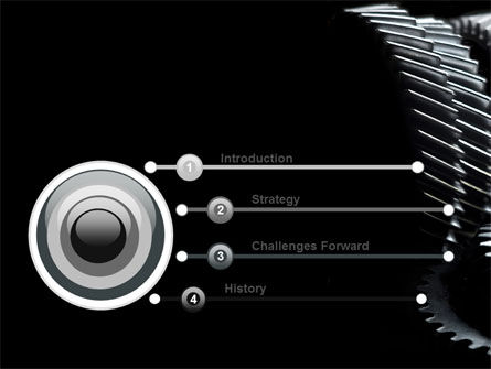 Black Gears PowerPoint Template, Slide 3, 07095, Utilities/Industrial — PoweredTemplate.com