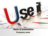 Consulting: Use It PowerPoint Template #07096