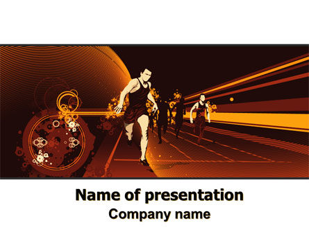 Sports: Runner Theme PowerPoint Template #07097