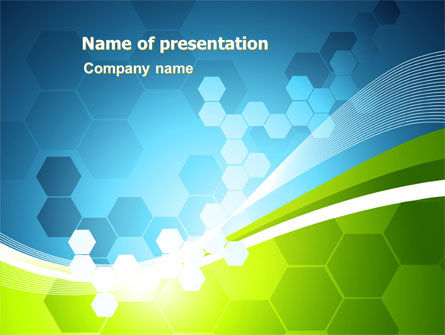 Abstract/Textures: Yellow and Green Theme PowerPoint Template #07098