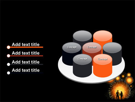 Beautiful Fireworks PowerPoint Template Slide 12