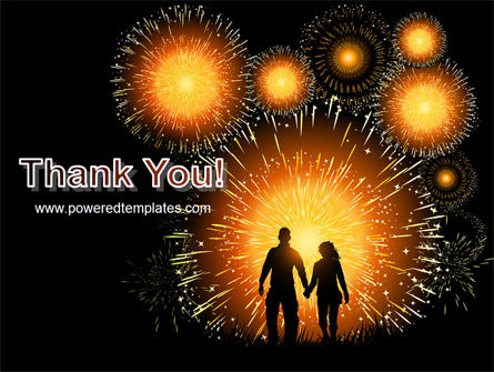 Beautiful Fireworks PowerPoint Template Slide 20