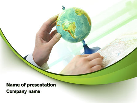 Global: Terrestrial Globe And Map PowerPoint Template #07100