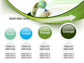 Terrestrial Globe And Map PowerPoint Template#13
