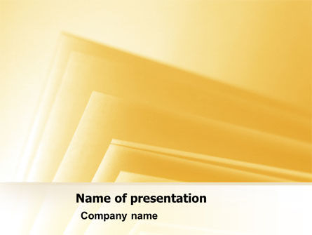 Business: Yellow Pages Free PowerPoint Template #07101