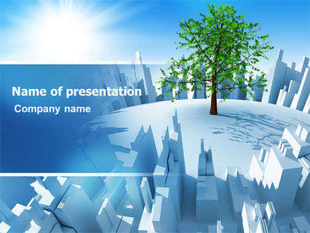 Industrialization and Nature PowerPoint Template, 07103, Nature & Environment — PoweredTemplate.com