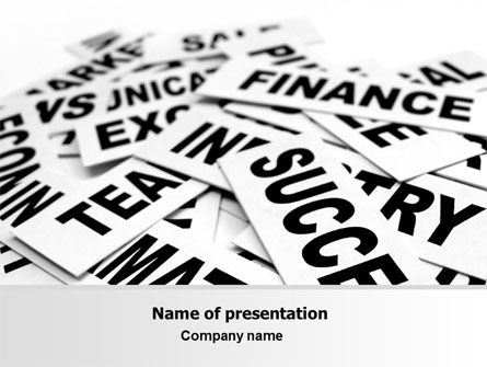 Consulting: Business Words PowerPoint Template #07104