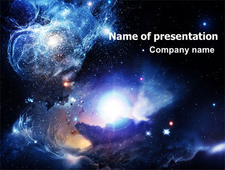 Nature & Environment: Violet Nebula PowerPoint Template #07105