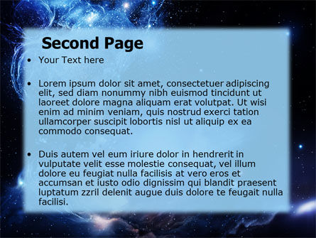 Violet Nebula PowerPoint Template, Slide 2, 07105, Nature & Environment — PoweredTemplate.com
