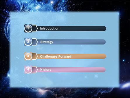 Violet Nebula PowerPoint Template, Slide 3, 07105, Nature & Environment — PoweredTemplate.com