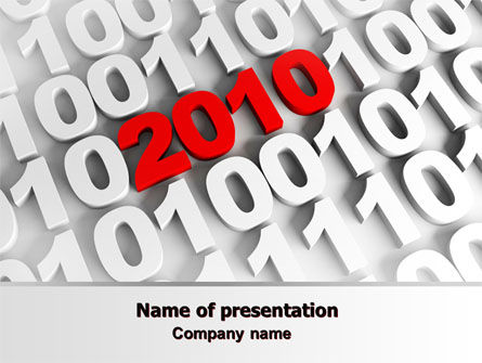 Holiday/Special Occasion: 2010 PowerPoint Template #07106