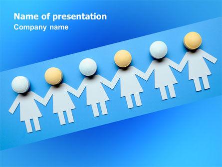 Women Organization PowerPoint Template, 07107, Medical — PoweredTemplate.com
