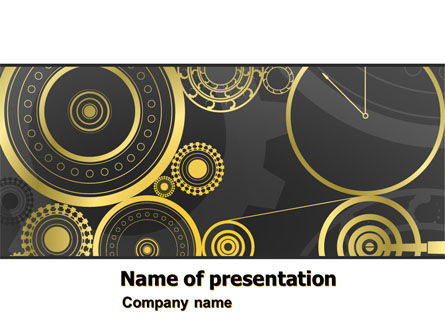 Ticking Mechanisms PowerPoint Template