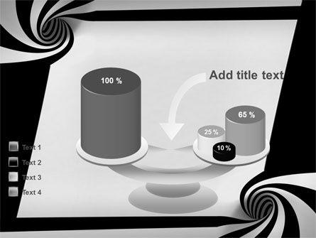 Balck And White Vortex PowerPoint Template Slide 10