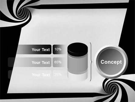 Balck And White Vortex PowerPoint Template Slide 11