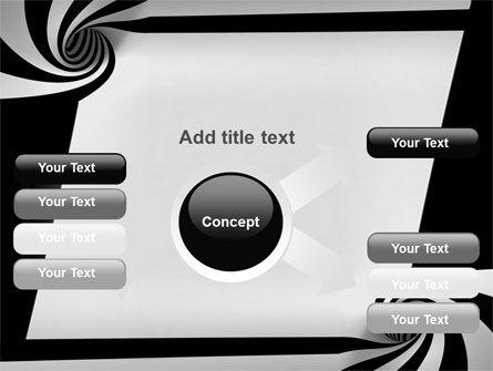 Balck And White Vortex PowerPoint Template Slide 14