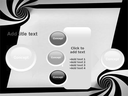 Balck And White Vortex PowerPoint Template Slide 17