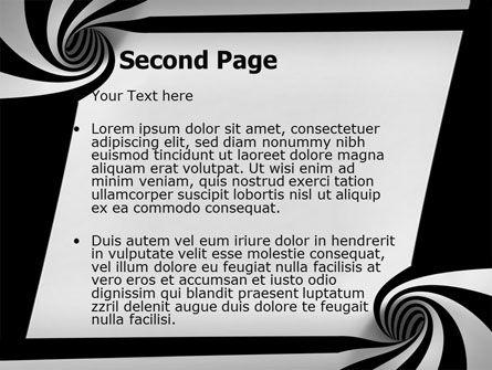 Balck And White Vortex PowerPoint Template Slide 2