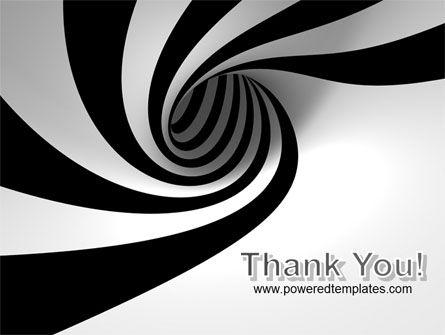 Balck And White Vortex PowerPoint Template Slide 20