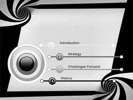 Balck And White Vortex PowerPoint Template Slide 3