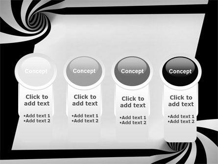 Balck And White Vortex PowerPoint Template Slide 5