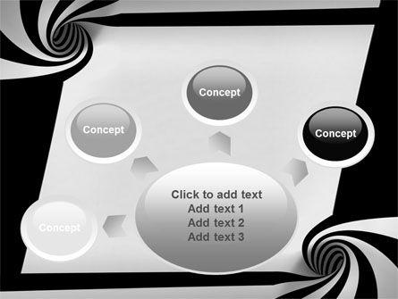 Balck And White Vortex PowerPoint Template Slide 7