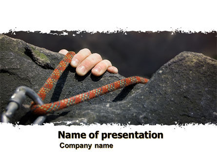 Climber PowerPoint Template, 07110, Business Concepts — PoweredTemplate.com